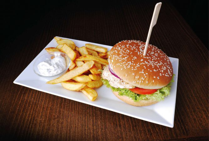 Kurací hamburger